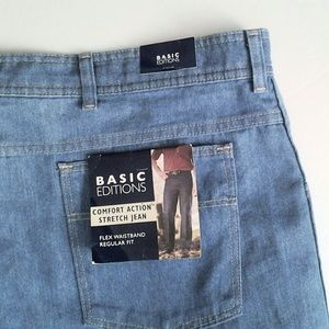 "Men Jeans Comfort Action Regular Fit 46"" x 32"""